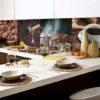 Kính ốp bếp 3D TOP-128 in hình ảnh ly/ hạt Cà phê đẹp phát mê luôn