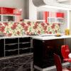 Mẫu kính ốp bếp in tranh 3D TOP-98