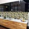 Mẫu kính ốp bếp in hoa văn TOP-115