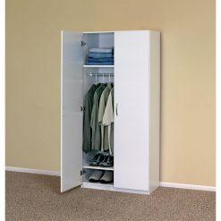 Tủ áo gỗ công nghiệp MDF màu trắng cổ điển GHTOP-4928